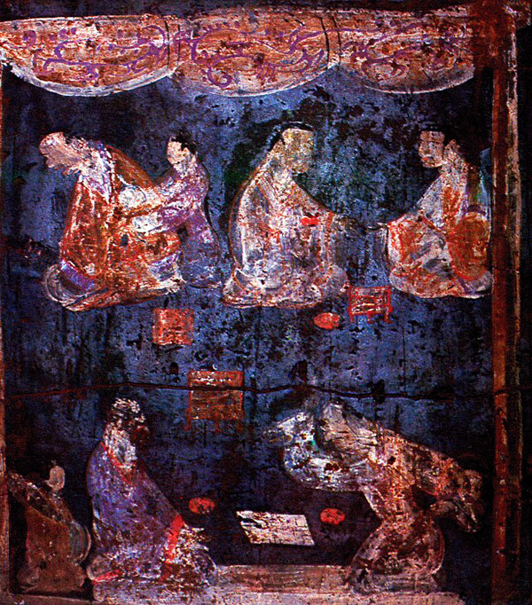 Detail of a mural from an Eastern Han tomb near Luoyang, between 25 and 220 A.D.