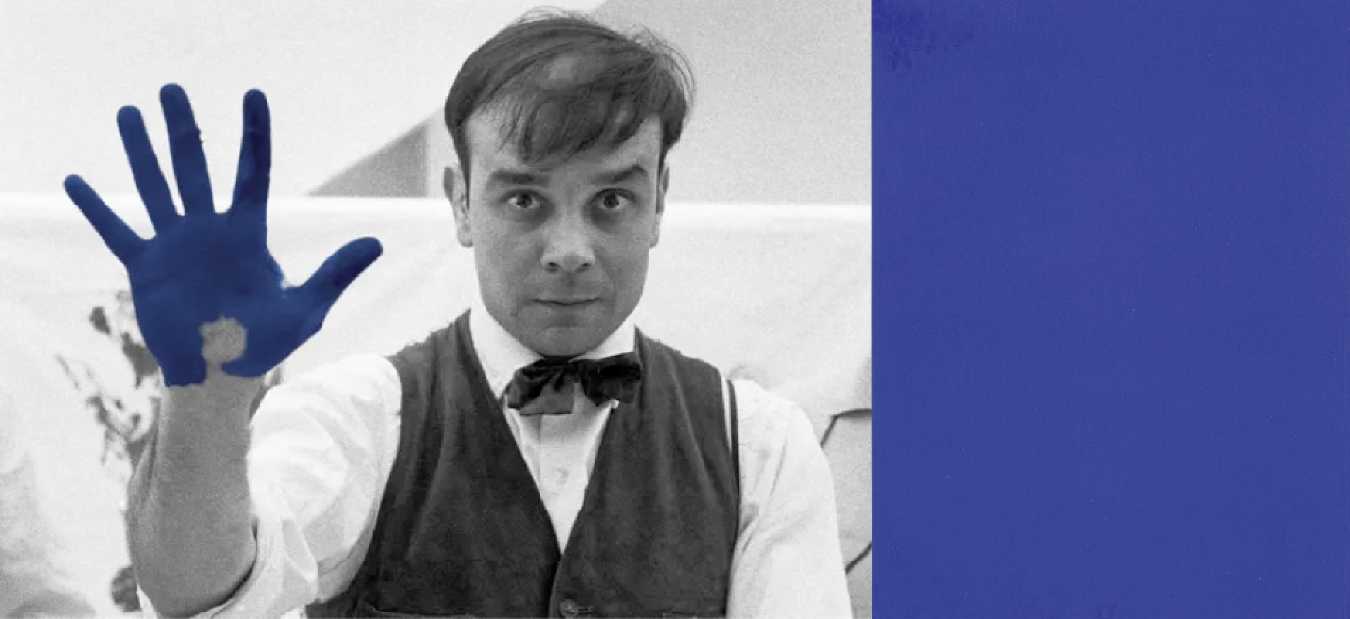 Yves Klein and his famous blue.