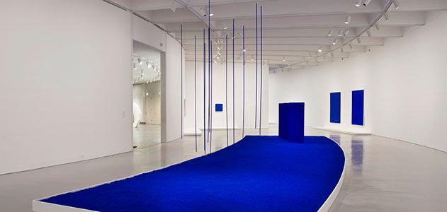 "View of the exhibition, ""Yves Klein: With the Void, Full Powers"", Hirshhorn Museum and Sculpture Garden (2010)."