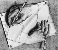 MC Escher Hands